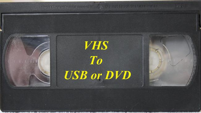 VHS to USB or DVD