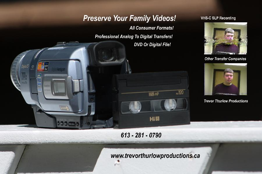 High Quality SVHS & VHS to DVD Transfer Services